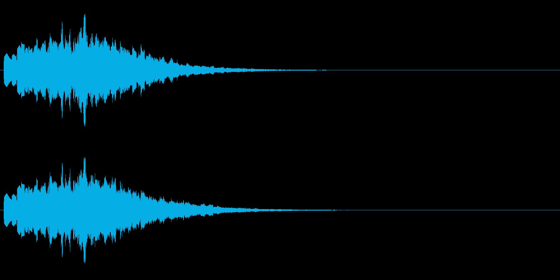 シンセによる広がる音の再生済みの波形