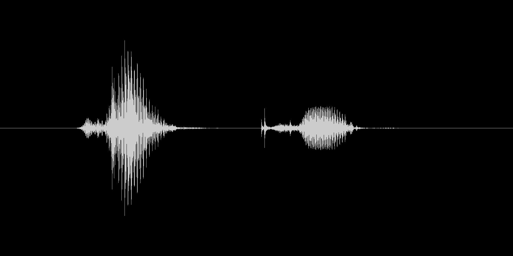 6(6、ろく)の未再生の波形