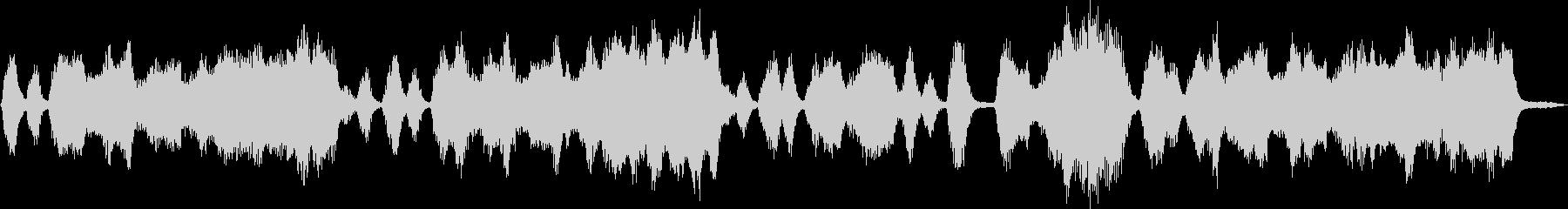 ロシア風のストリングスによるジングルの未再生の波形
