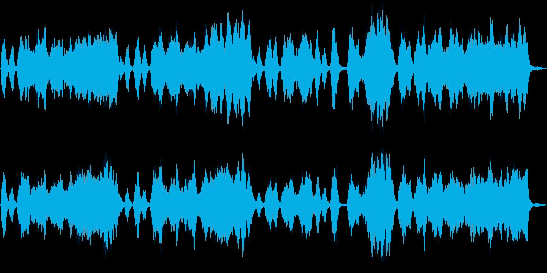ロシア風のストリングスによるジングルの再生済みの波形