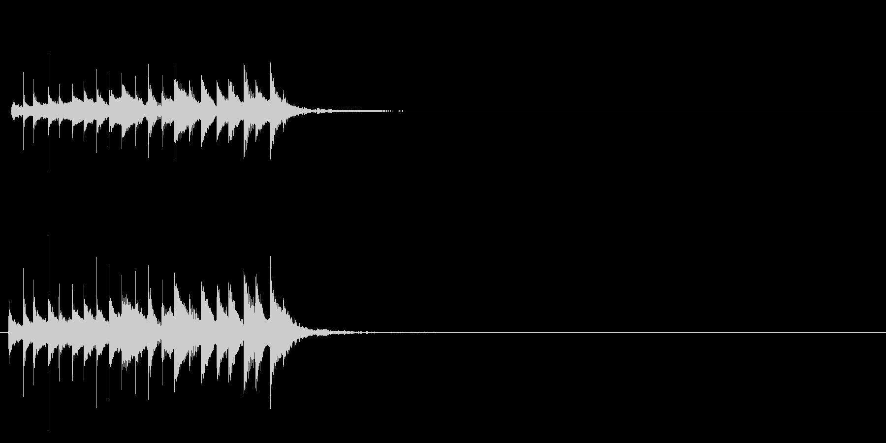 おばけ ちりちりちり(上がる)の未再生の波形