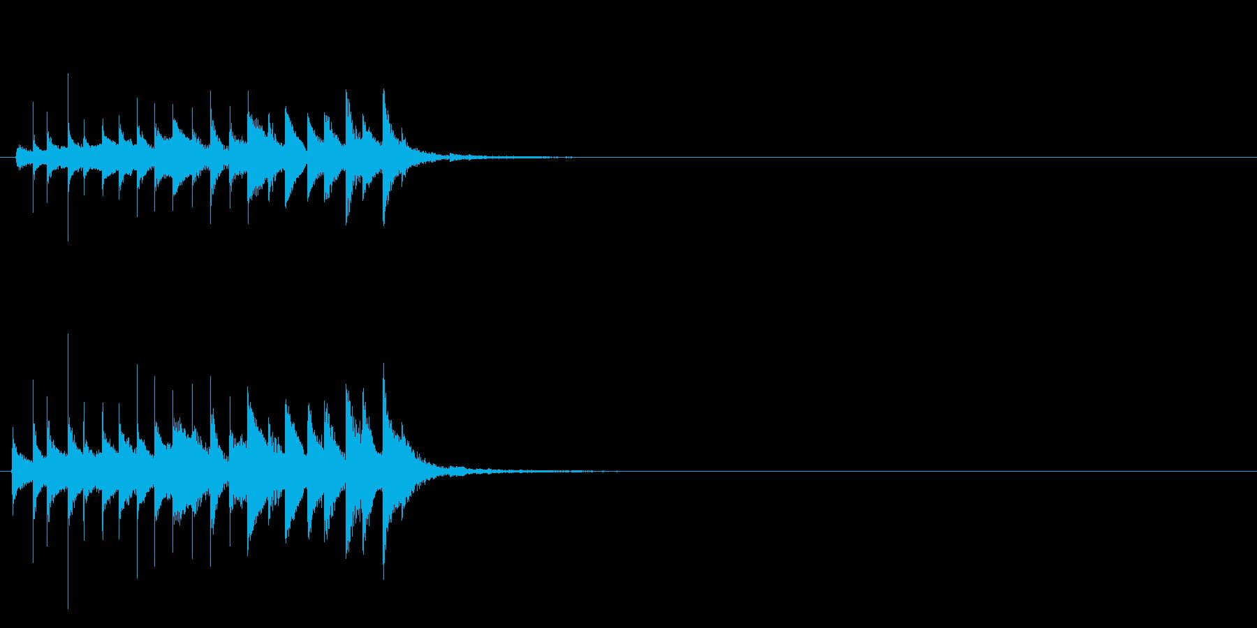 おばけ ちりちりちり(上がる)の再生済みの波形