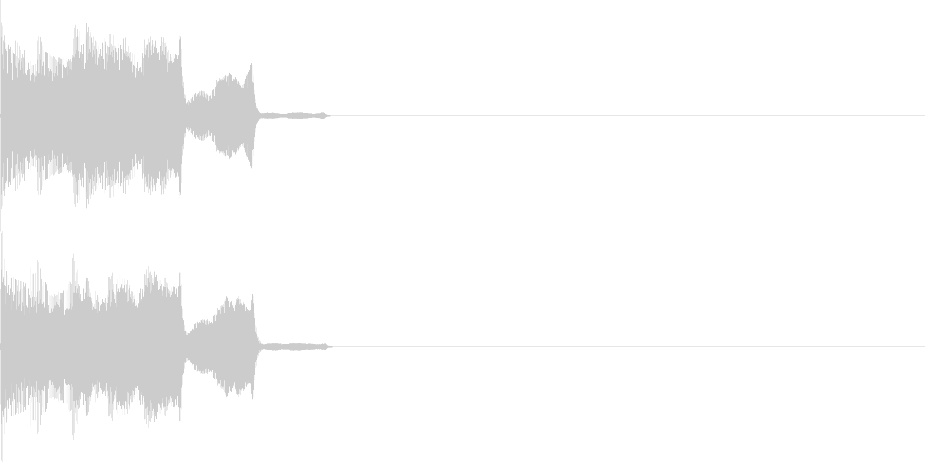 テレレレ!(電子決定音)の未再生の波形