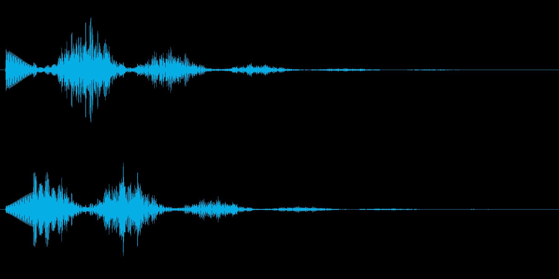 ホラー系の不穏な効果音。の再生済みの波形