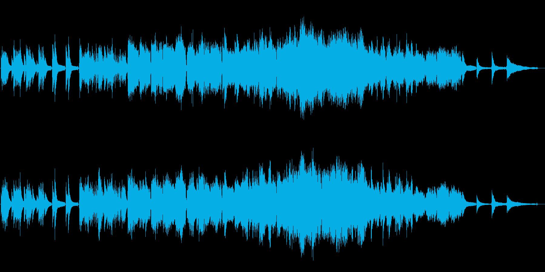 記憶をイメージした柔らかな歌声のBGMの再生済みの波形