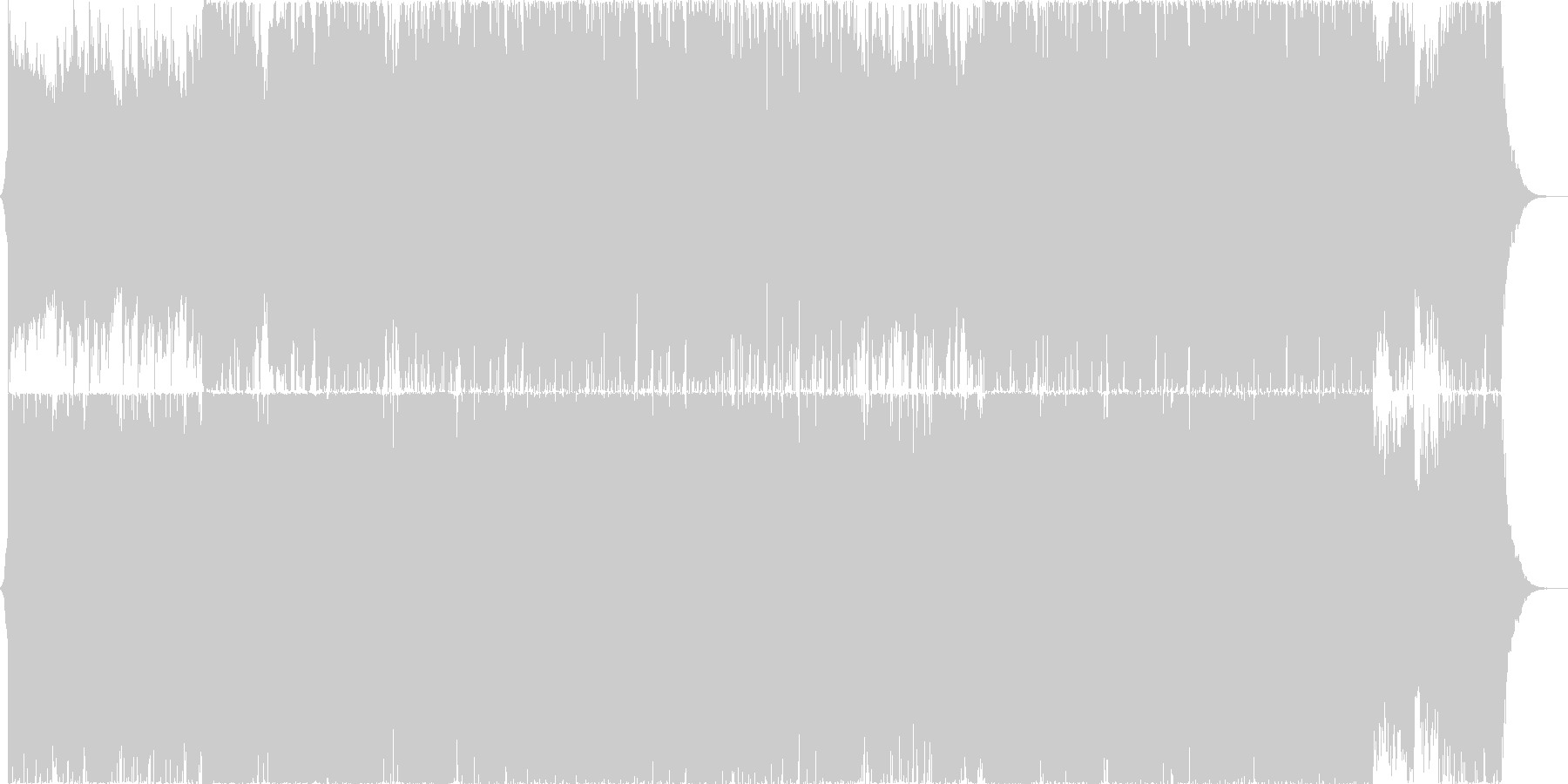 Xmasの雰囲気の未再生の波形