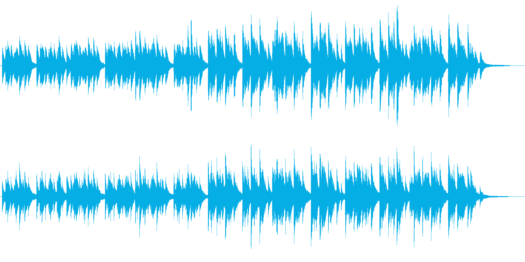 切なく力強いピアノソロの再生済みの波形