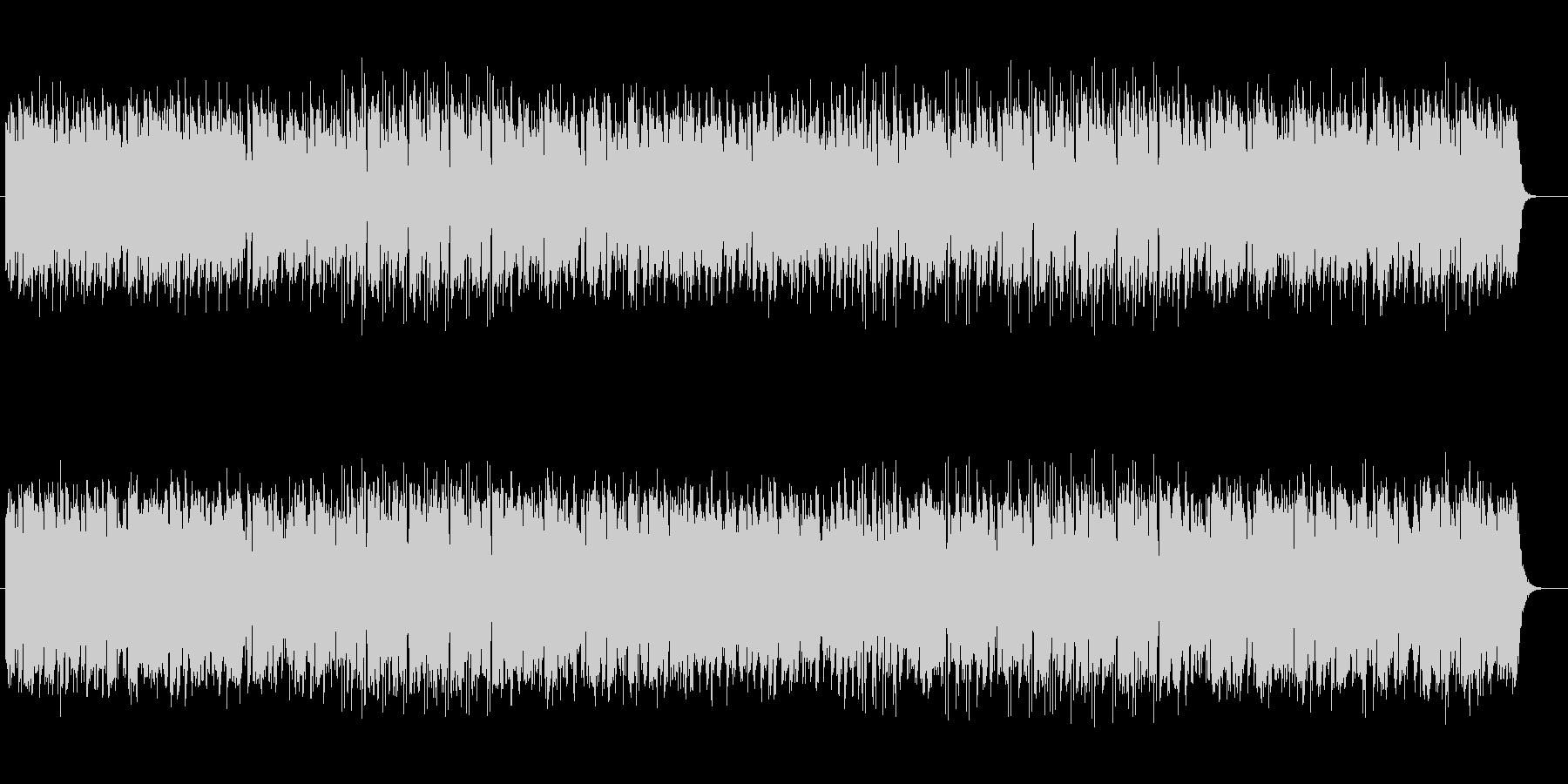 リズム感があり木琴が印象的なテクノの未再生の波形