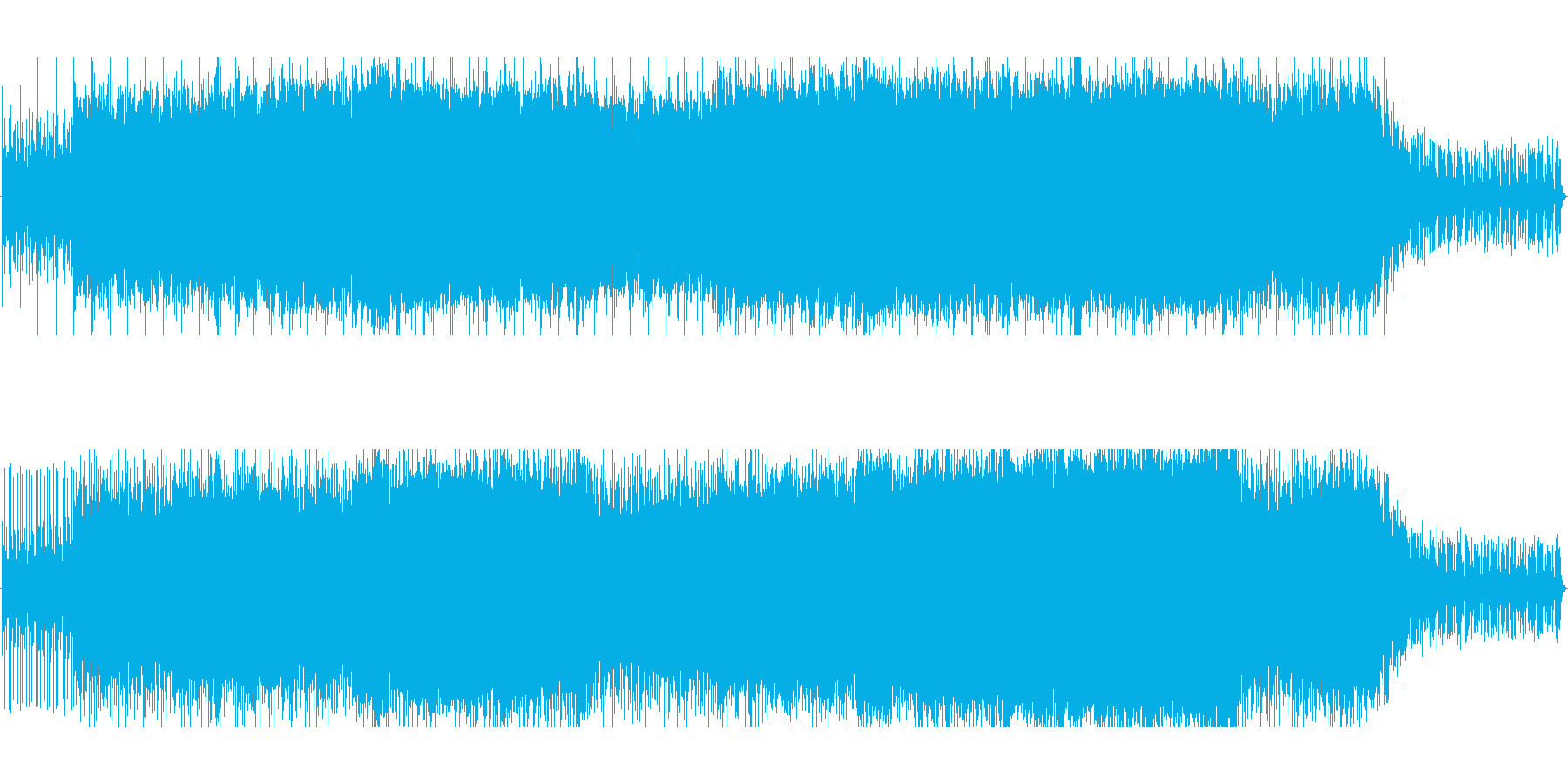 感動的なオーケストラ風の再生済みの波形