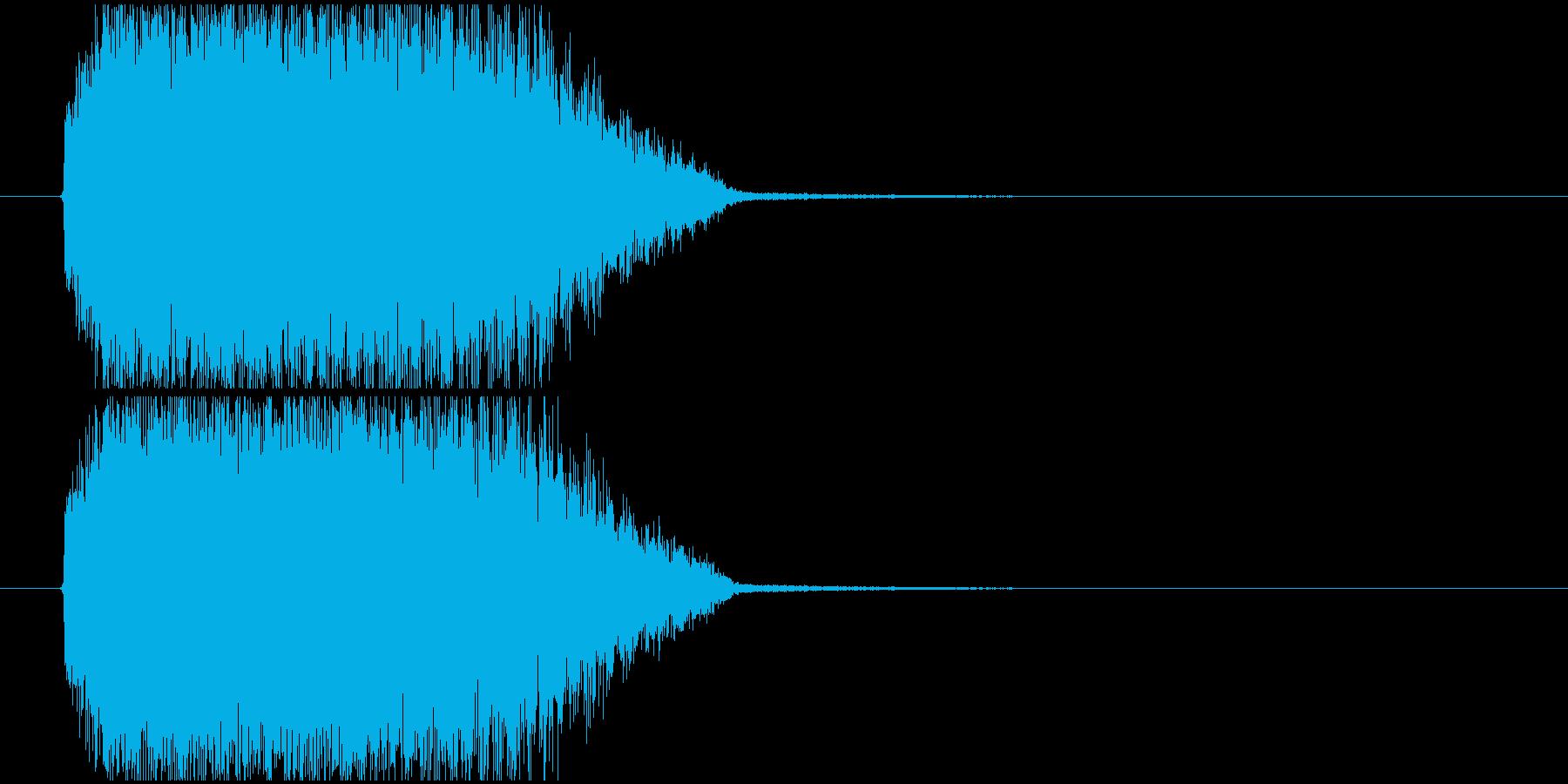 短め_回復上昇の再生済みの波形