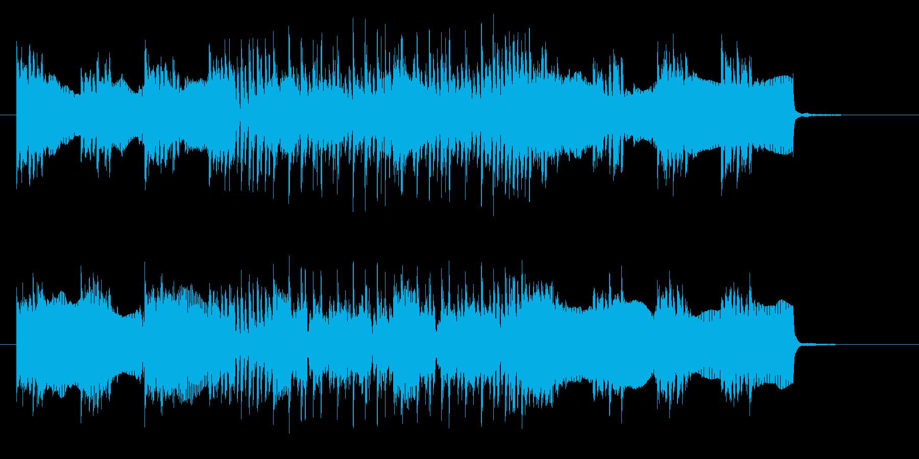 躍動感あるビートと神秘的なエレキジングルの再生済みの波形
