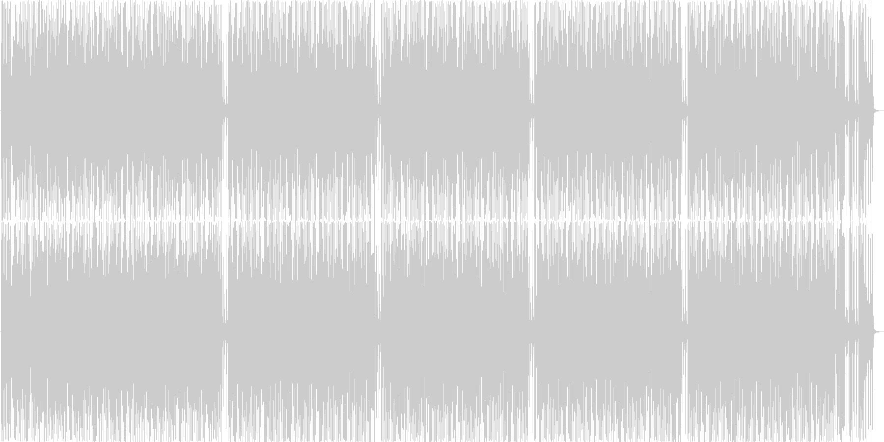 CMやオープニング等_カントリー風BGMの未再生の波形