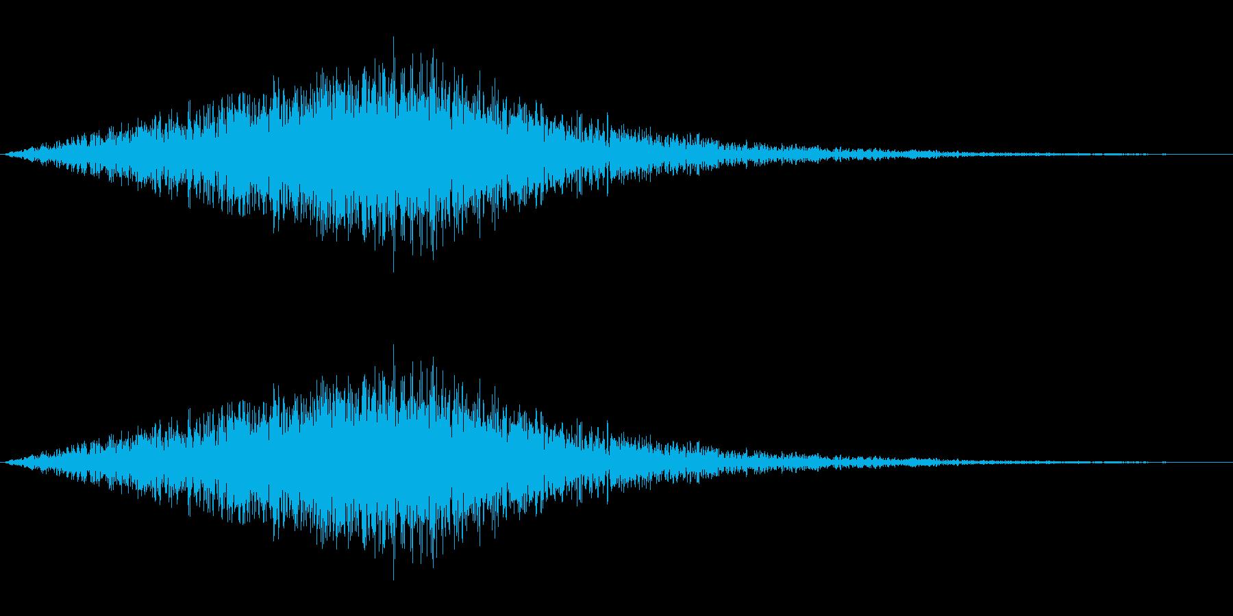 風音03(ピュー/短い系)の再生済みの波形