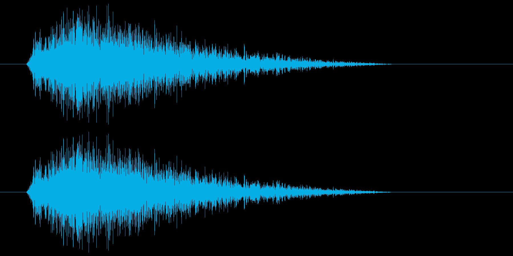 ヒュー(風の音) 01の再生済みの波形