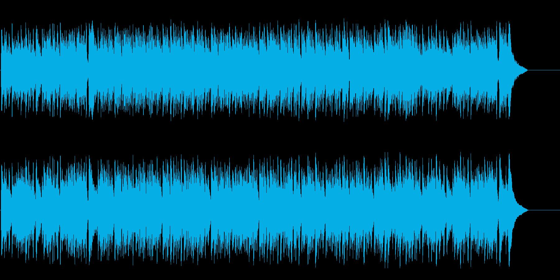エレガントなゆったりとしたボサノバの再生済みの波形
