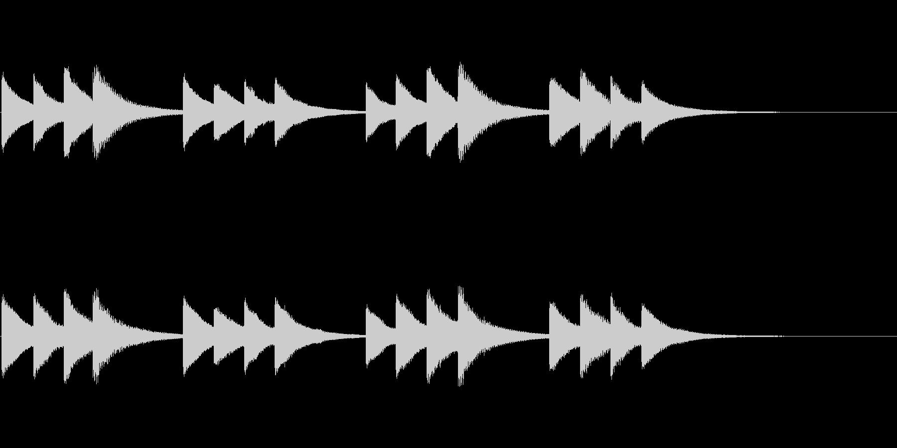 始業・終業 学校のチャイム02の未再生の波形