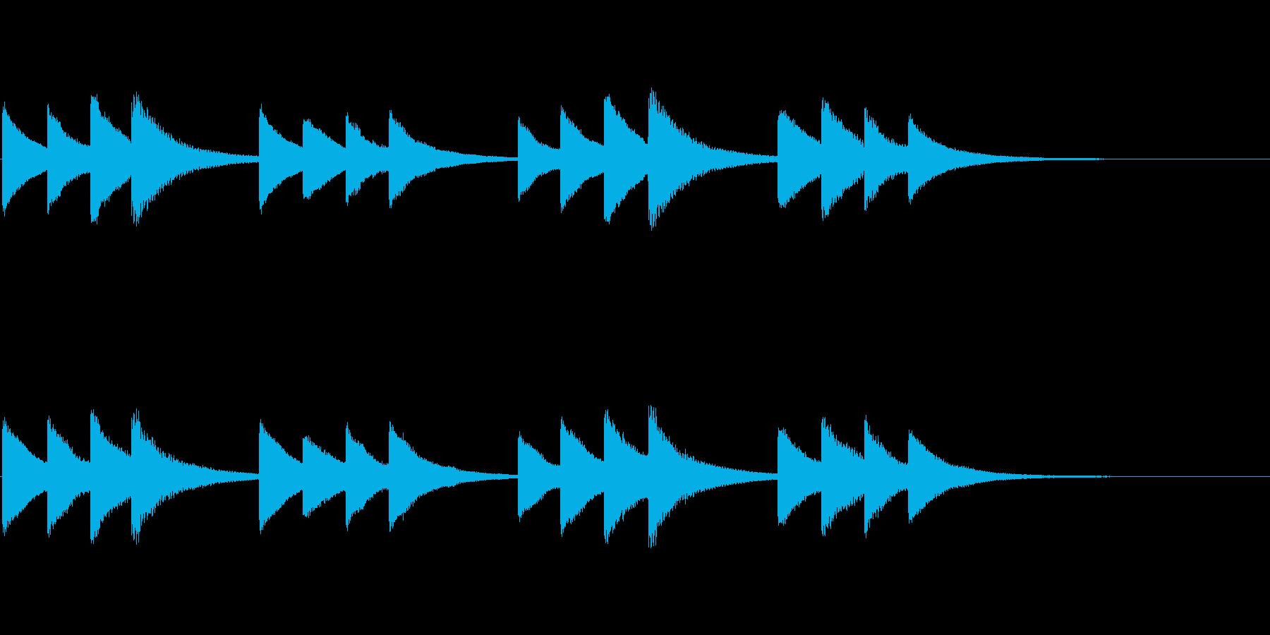 始業・終業 学校のチャイム02の再生済みの波形