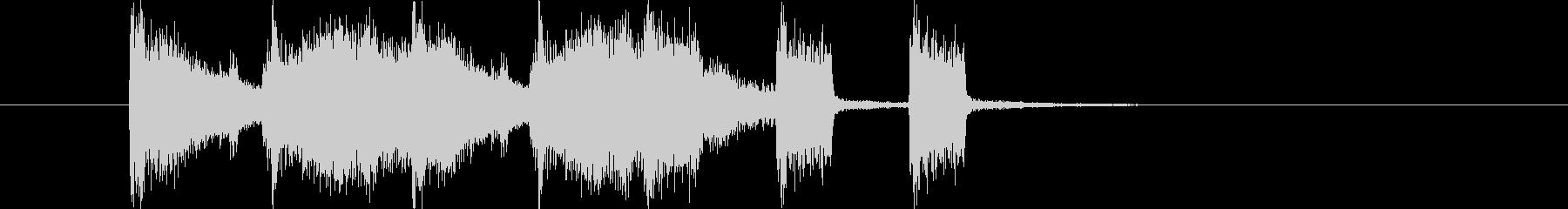 クールでキャッチ―なエレキロックジングルの未再生の波形