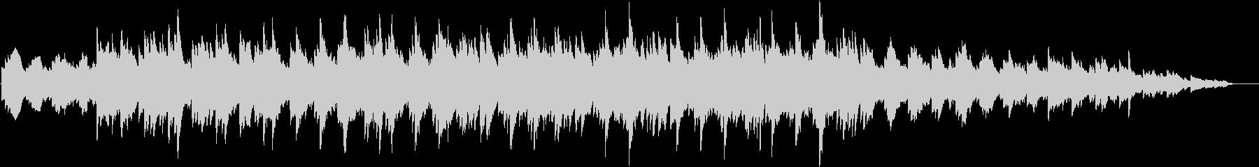 エレクトリックピアノの静かめなジングルの未再生の波形