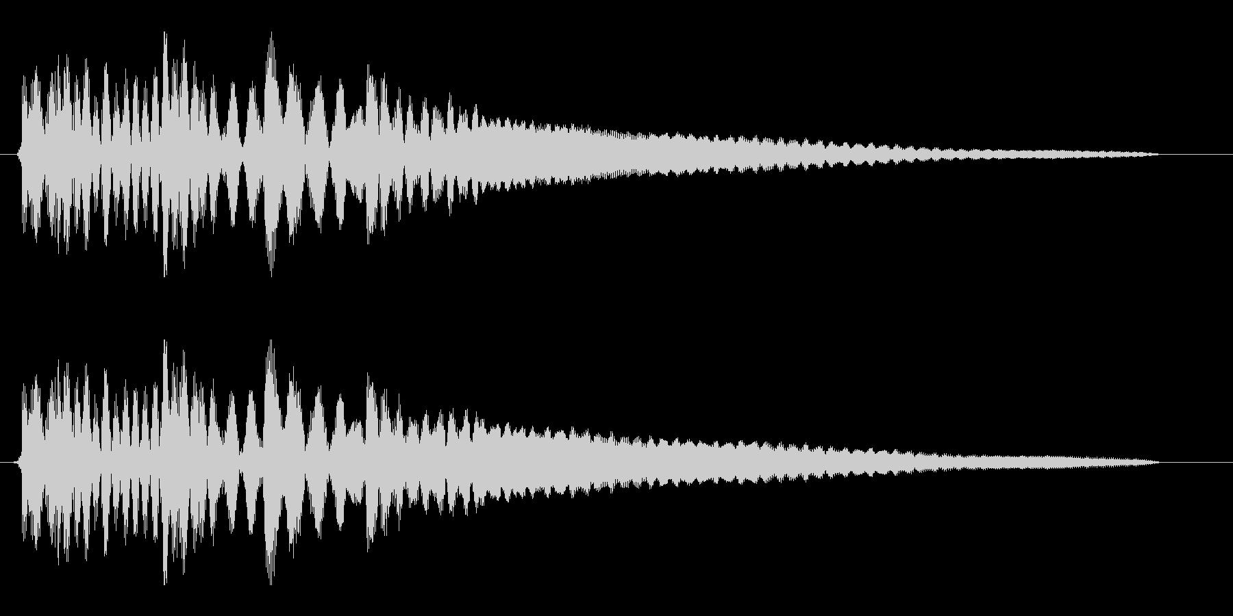 タラララーンというお知らせ音の未再生の波形