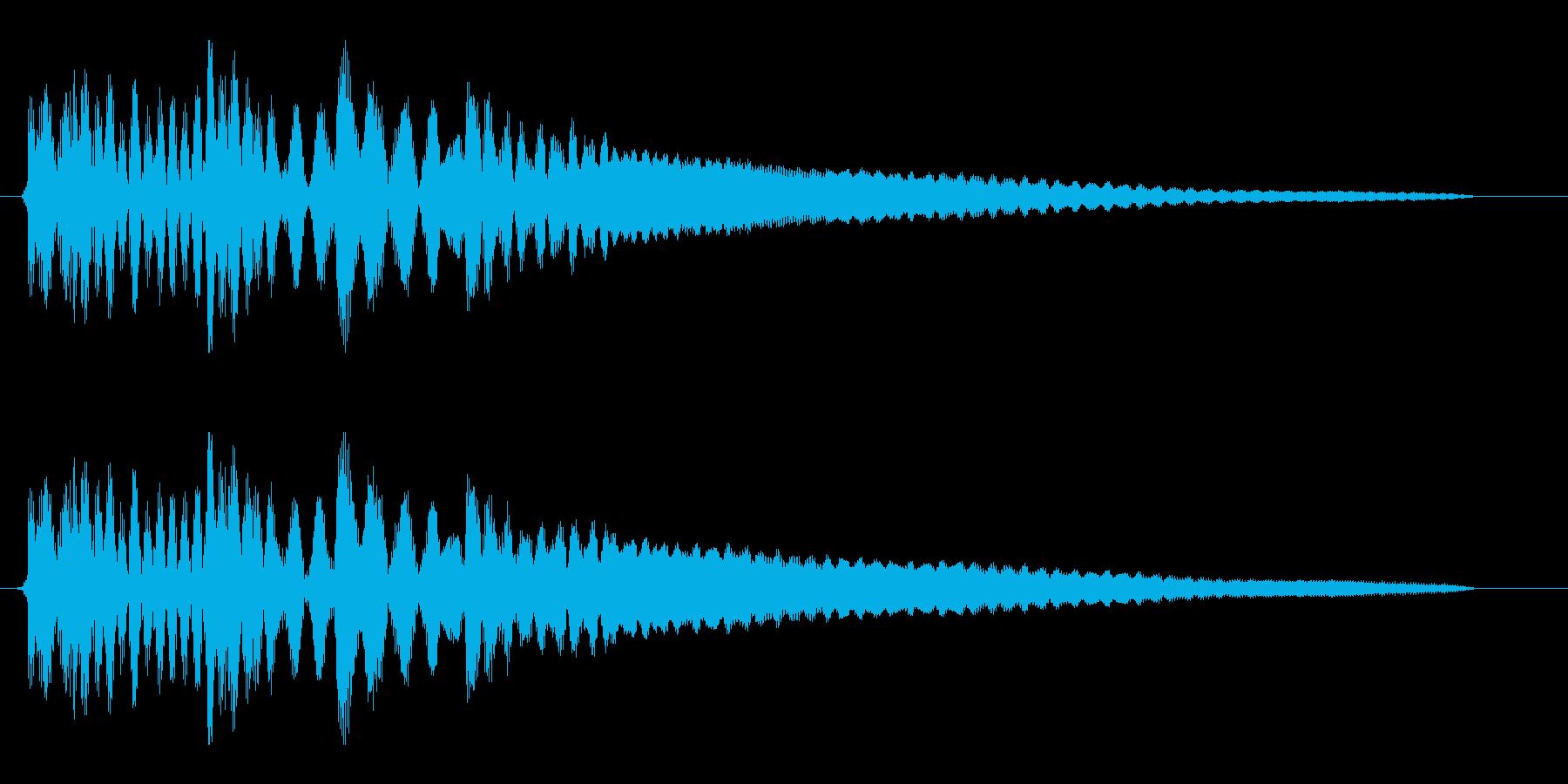 タラララーンというお知らせ音の再生済みの波形