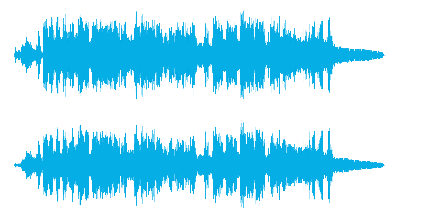 緩やかで可憐で優しい洋風ソングジングルの再生済みの波形
