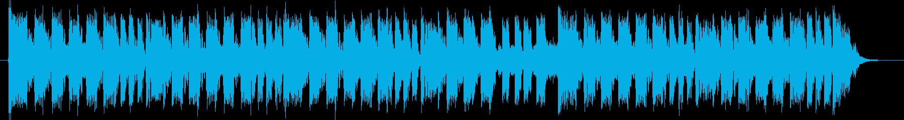 緩やかで神秘的なテクノポップジングルの再生済みの波形