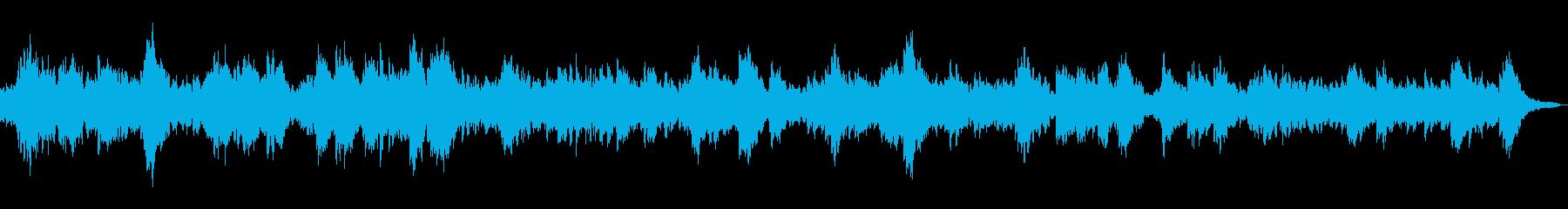 ハープとシンセサイザーの穏やかな瞑想曲の再生済みの波形
