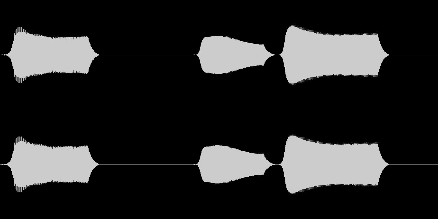 ポッポポ(単音リコーダーのオチ)の未再生の波形