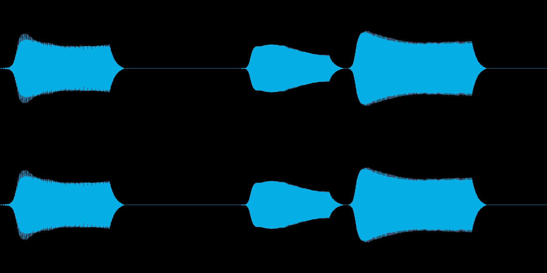 ポッポポ(単音リコーダーのオチ)の再生済みの波形