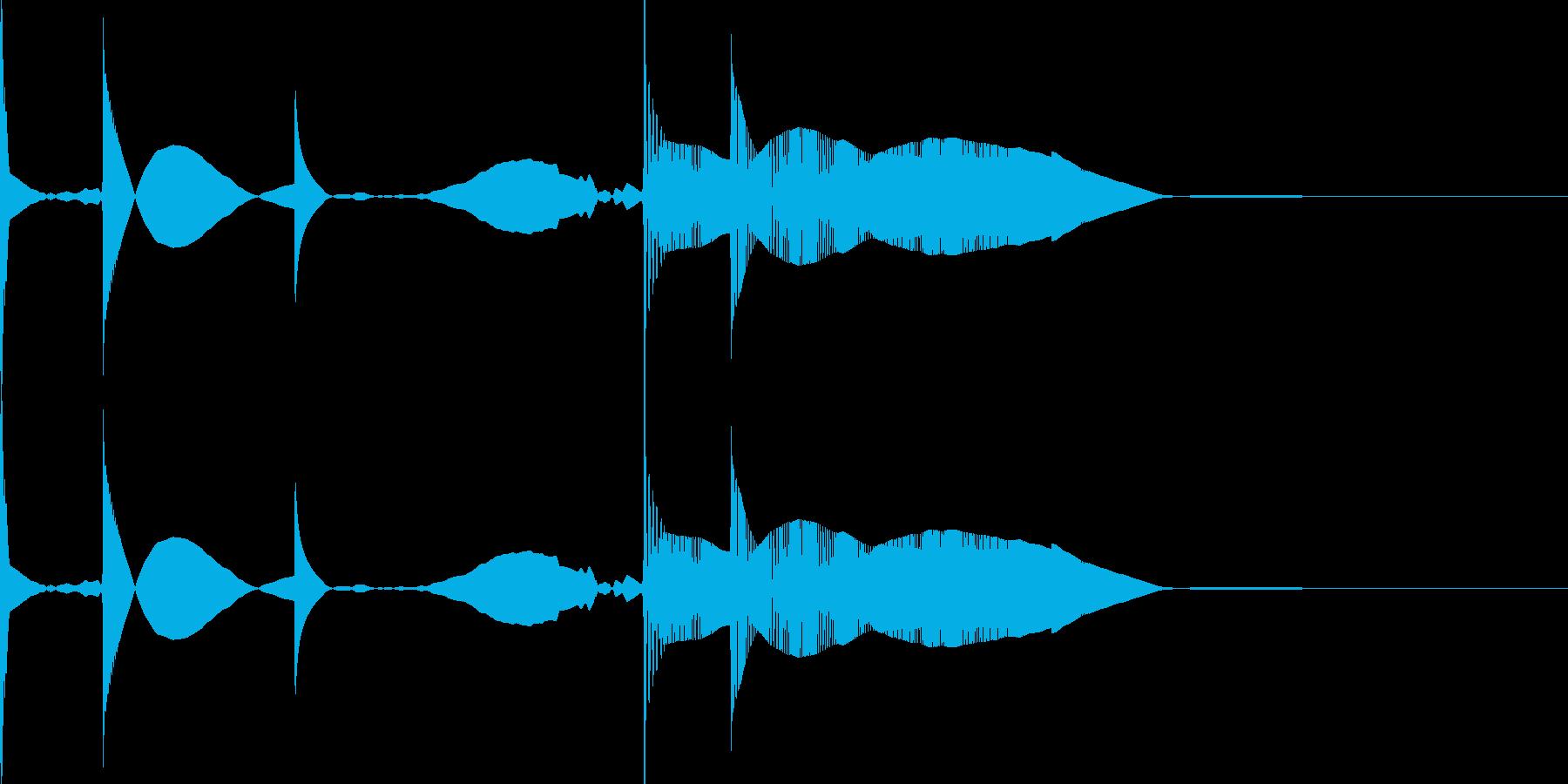 開けたら 変なキャラクター 音の再生済みの波形