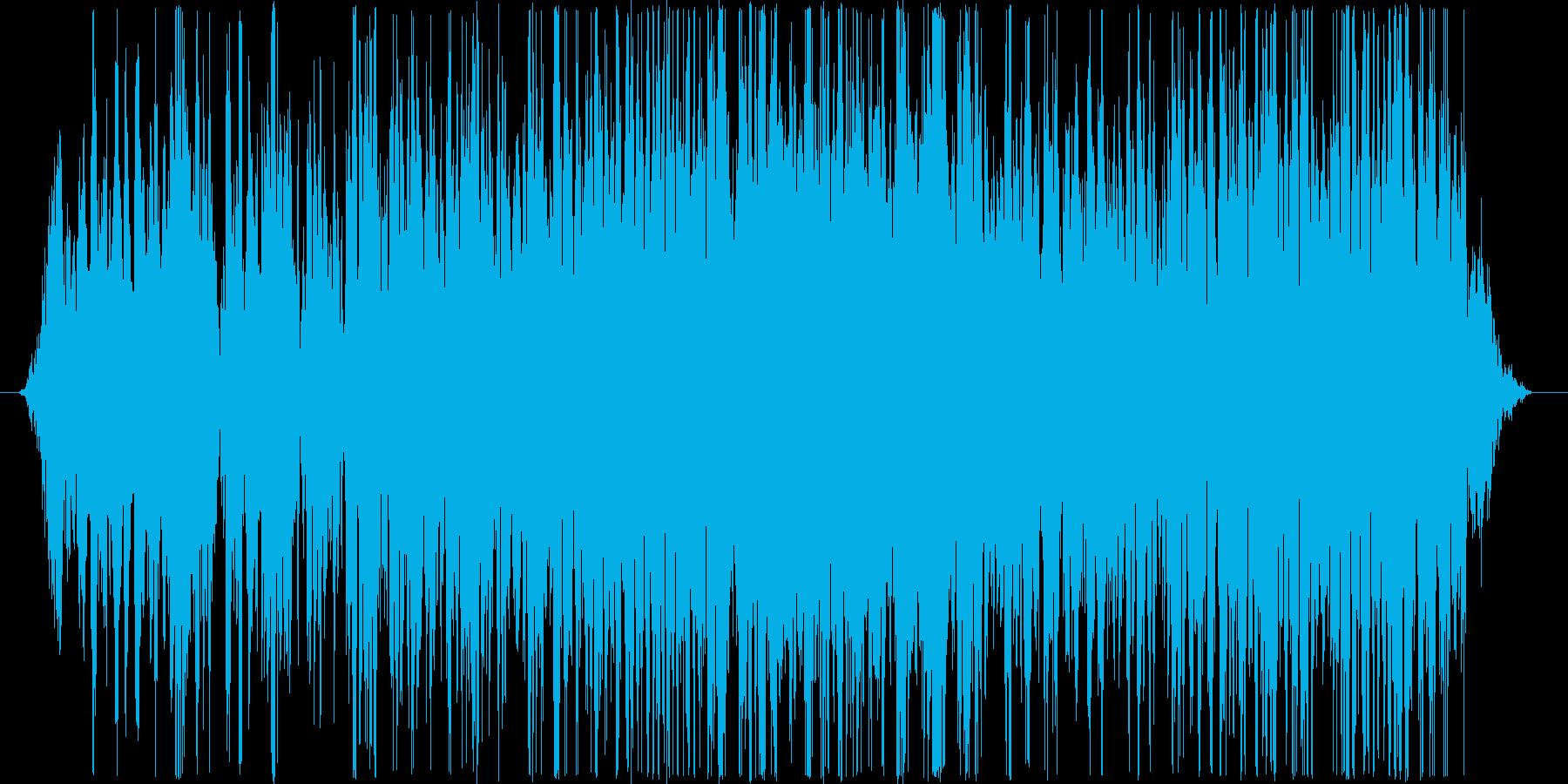 テープ早再生、早送り風の音の再生済みの波形