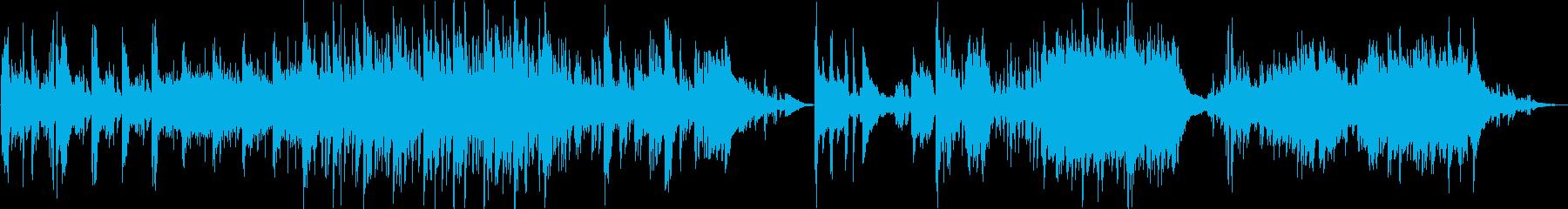 ピアノの動きが特徴的なオーケストラの再生済みの波形