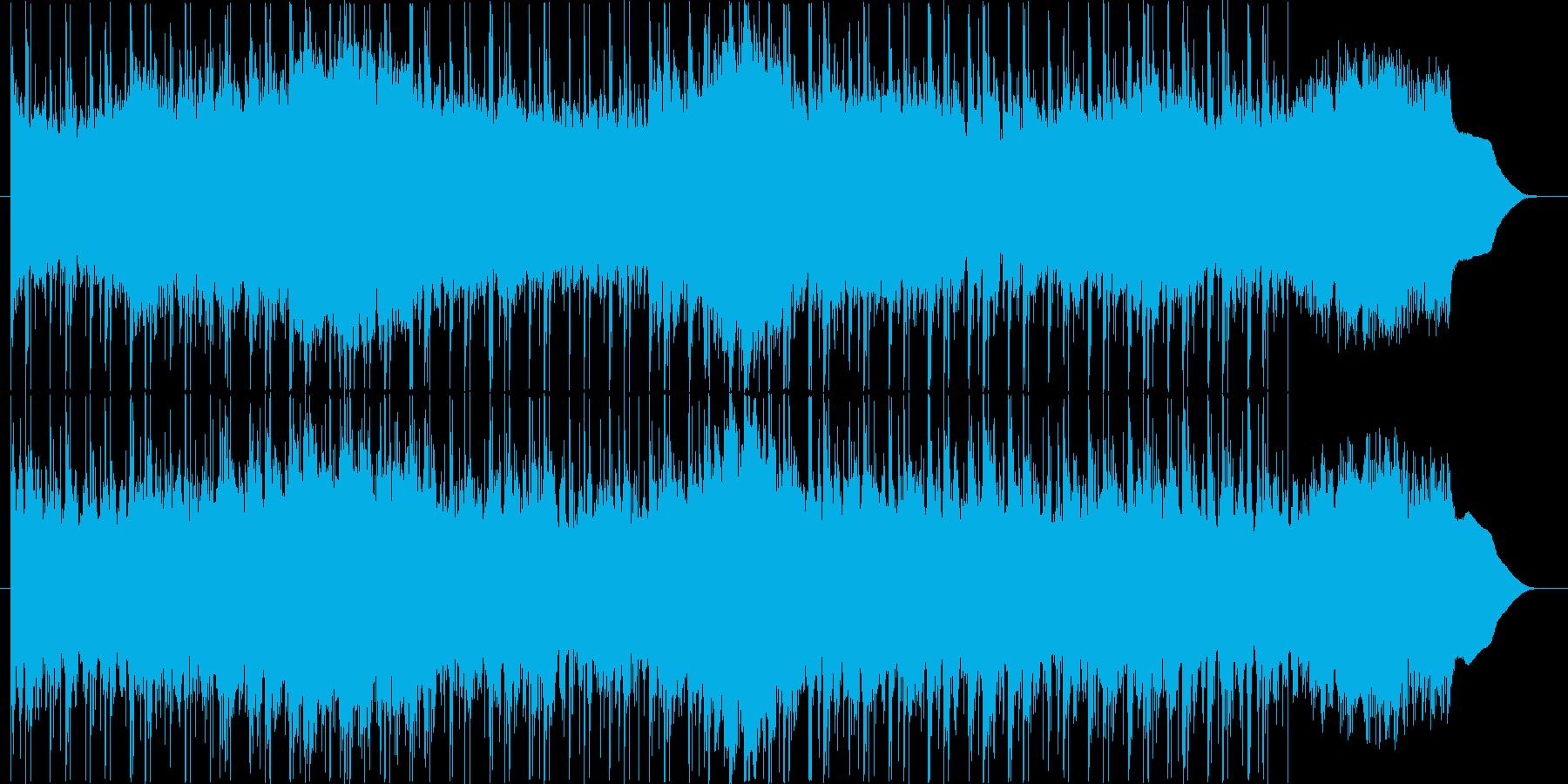 重々しい雰囲気のシンセサウンドの再生済みの波形