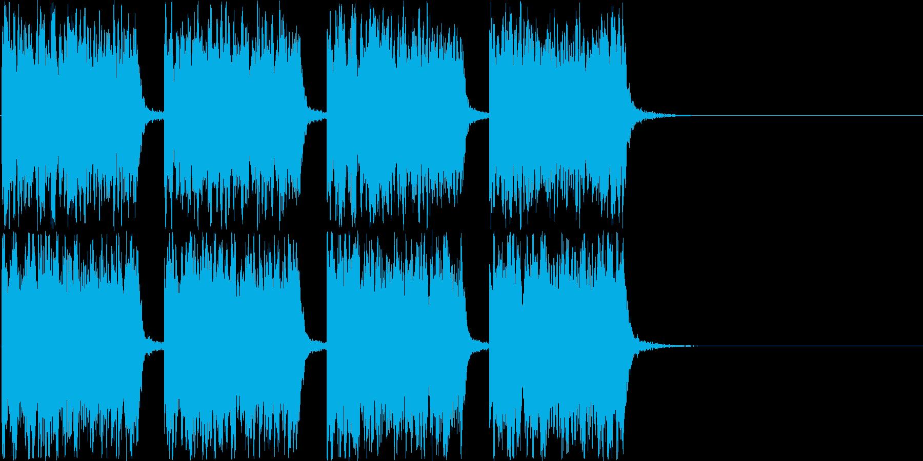 アメリカ的なサイレン音です。の再生済みの波形