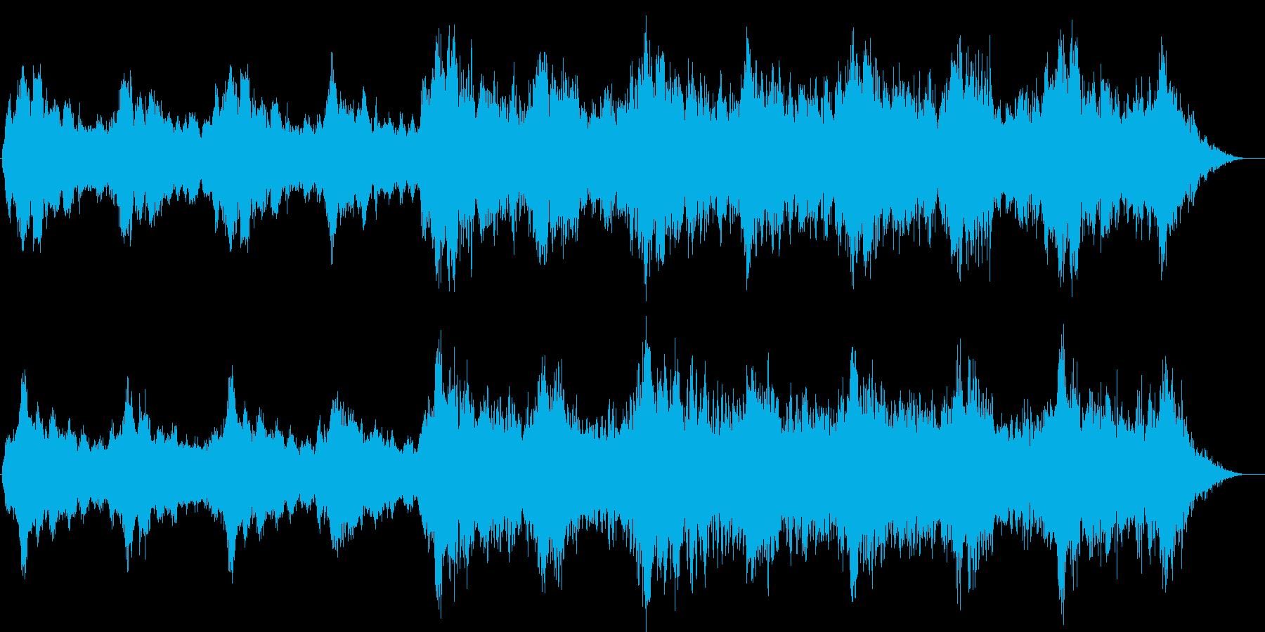幻想的な情景のヒーリングミュージックの再生済みの波形