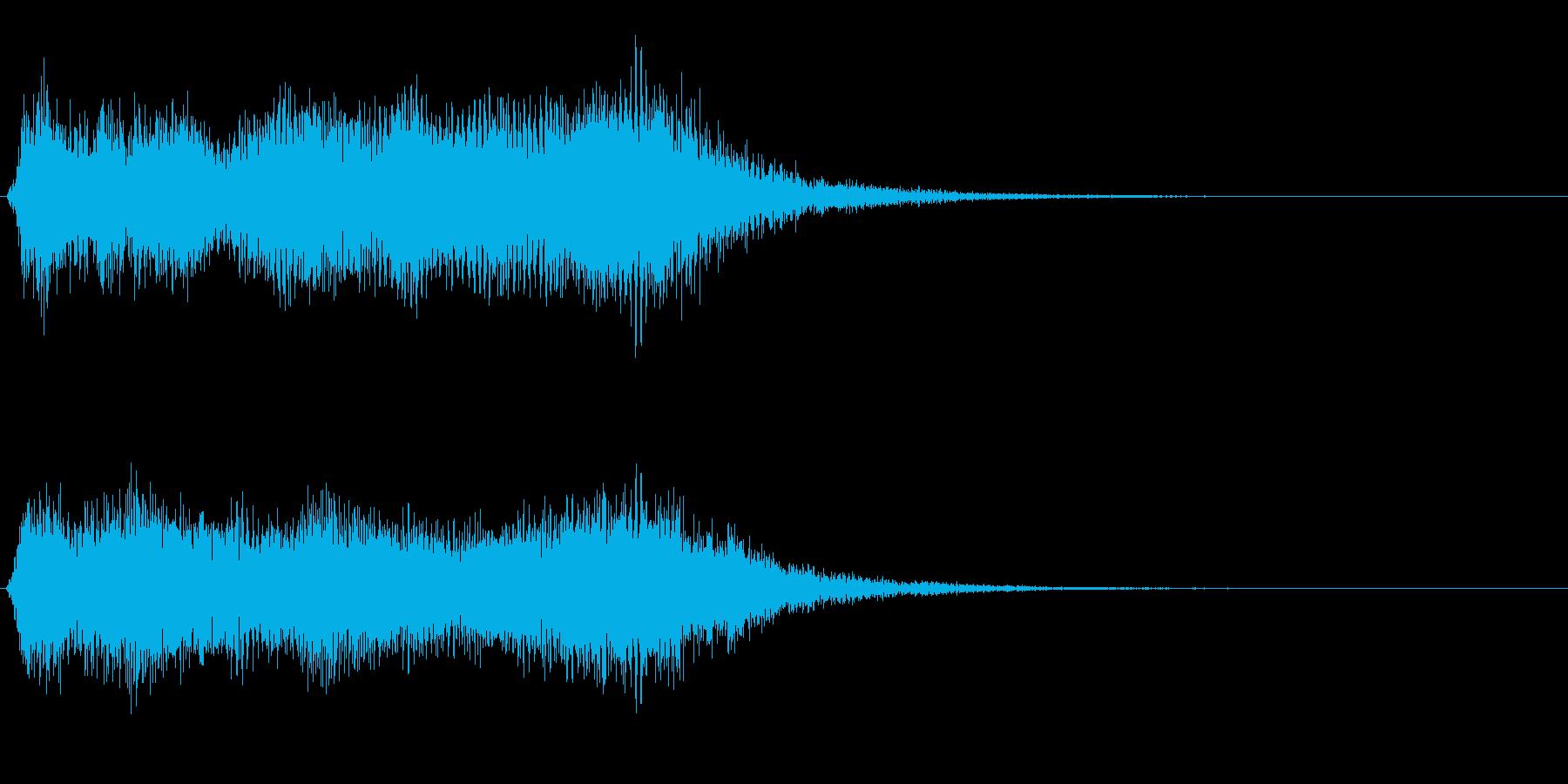 シンプルなファンファーレ:ジャジャーン!の再生済みの波形