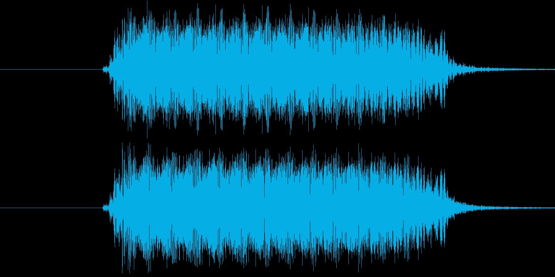 注意や警告っぽいシンセ音の再生済みの波形