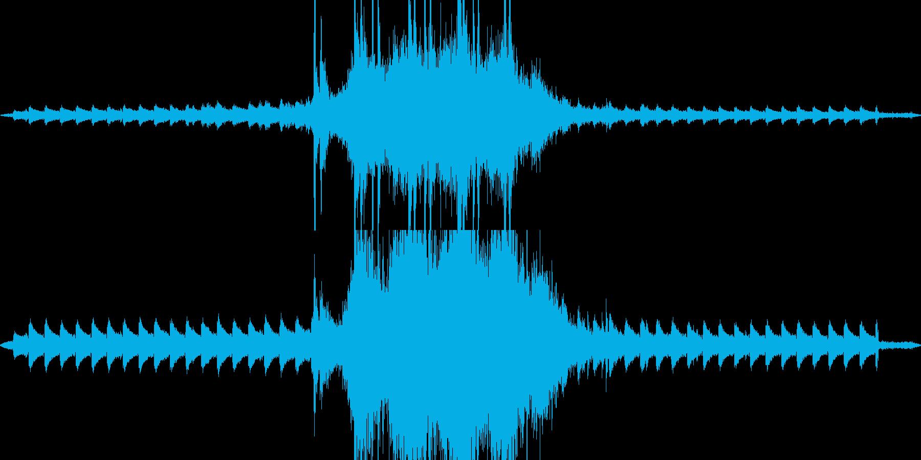 カナカンカン ガタンガタン 踏切待ちの音の再生済みの波形