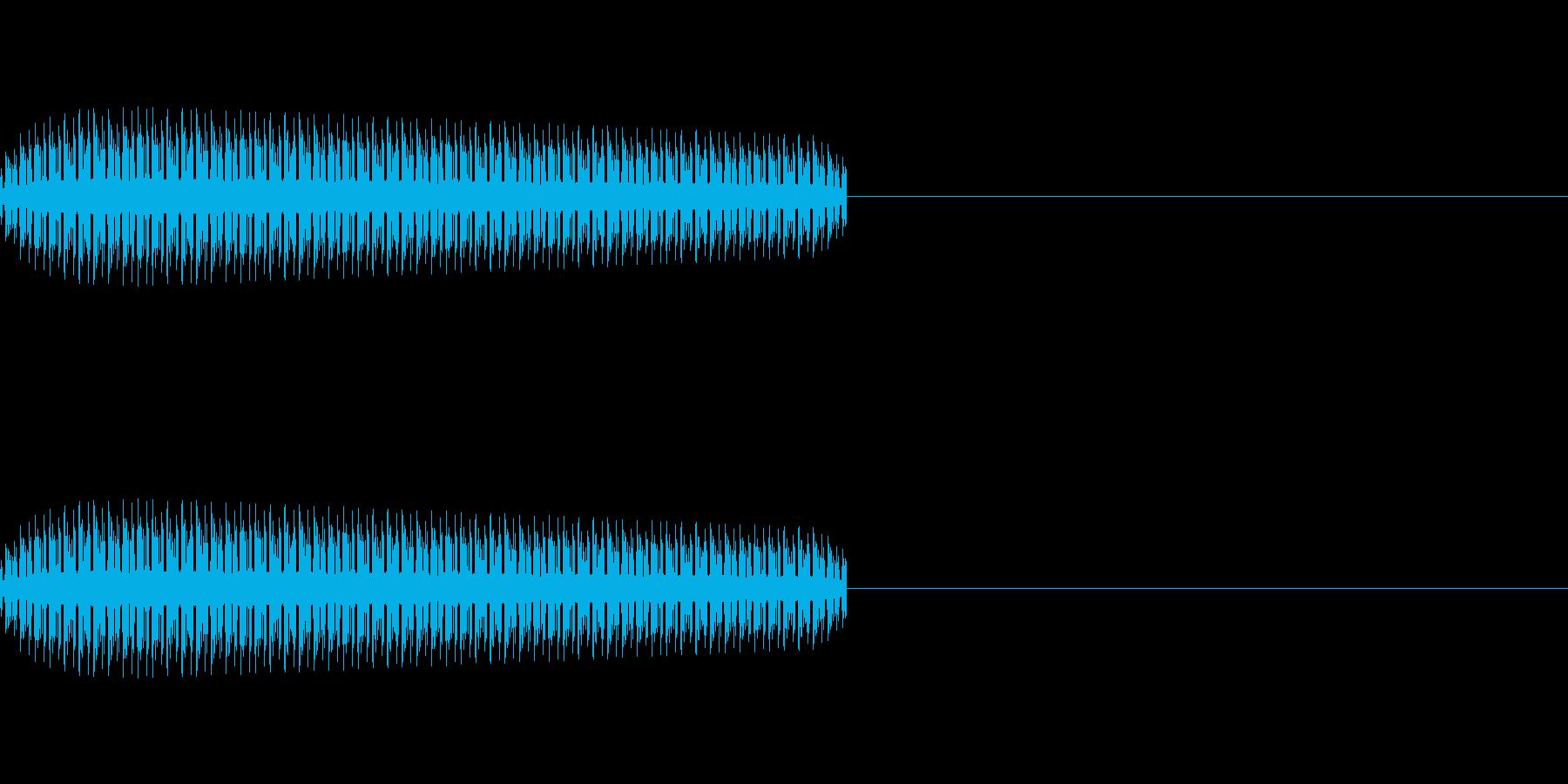 レトロゲーム効果音「ピッ」の再生済みの波形