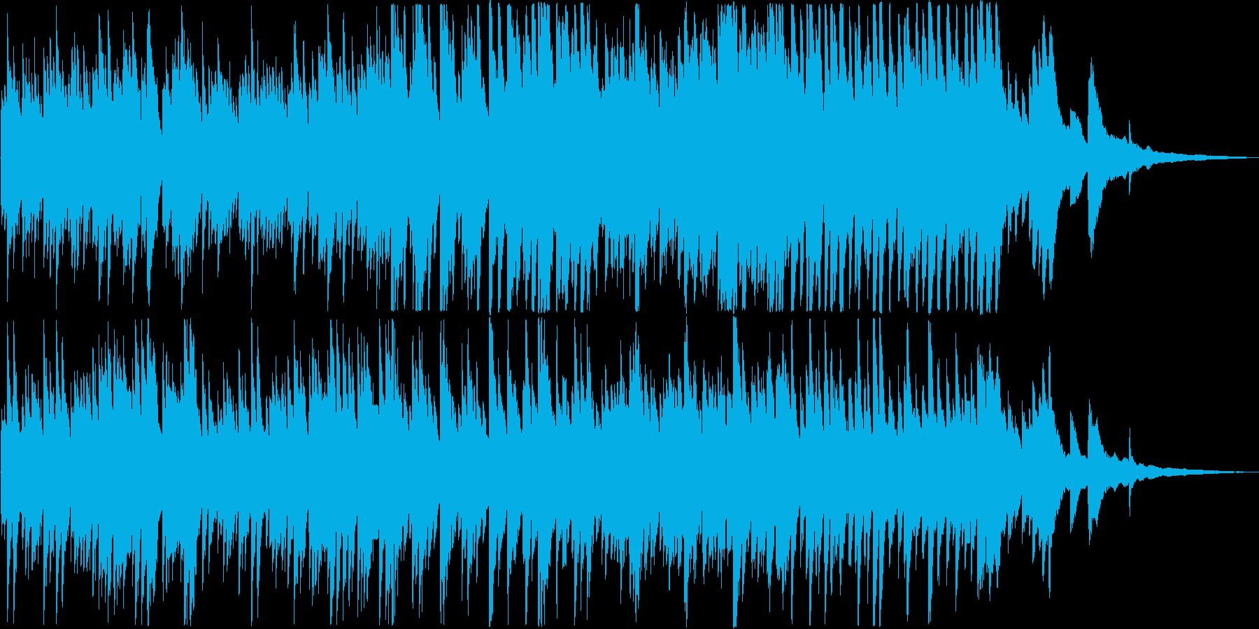 明るいコンセプトムービー向けピアノ曲の再生済みの波形
