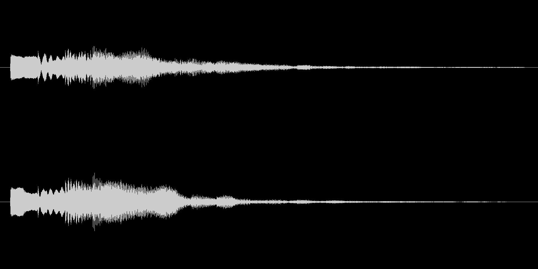 ピロリン♪メール受信音。の未再生の波形
