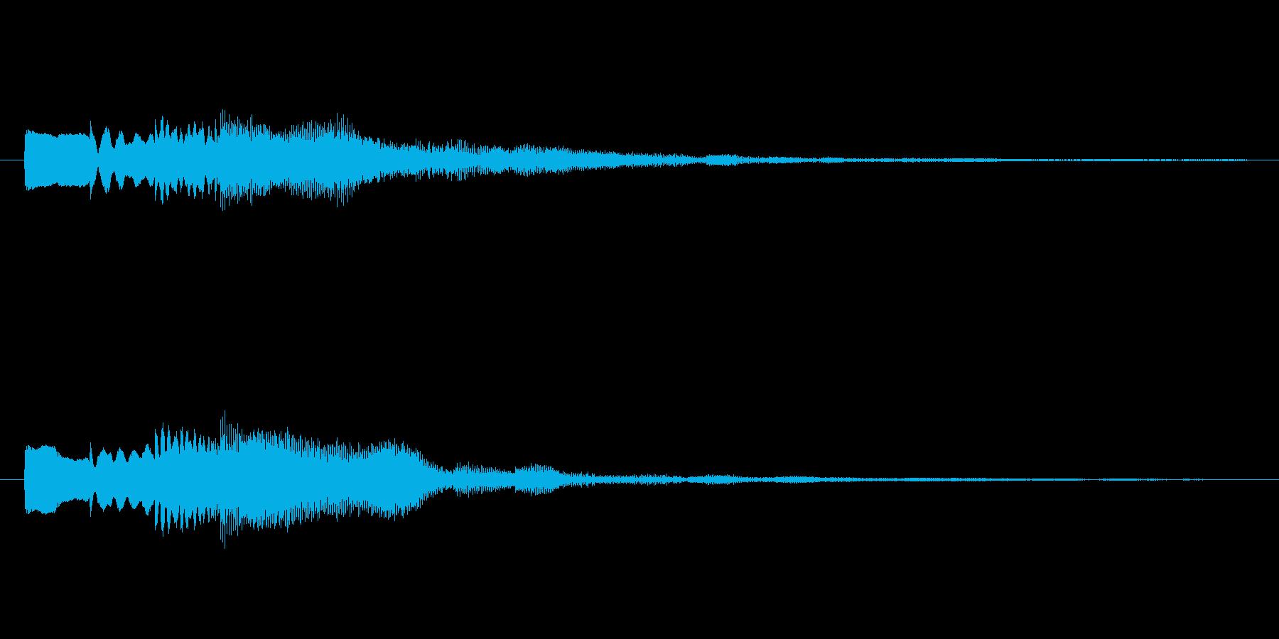 ピロリン♪メール受信音。の再生済みの波形
