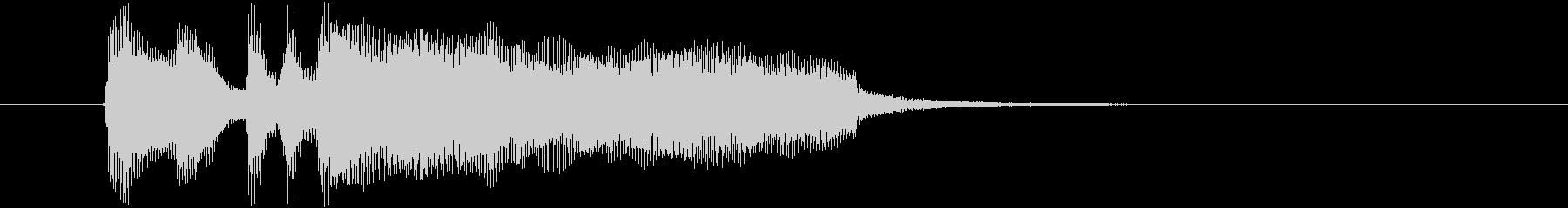 8秒のAOR的なさわやかピアノの未再生の波形