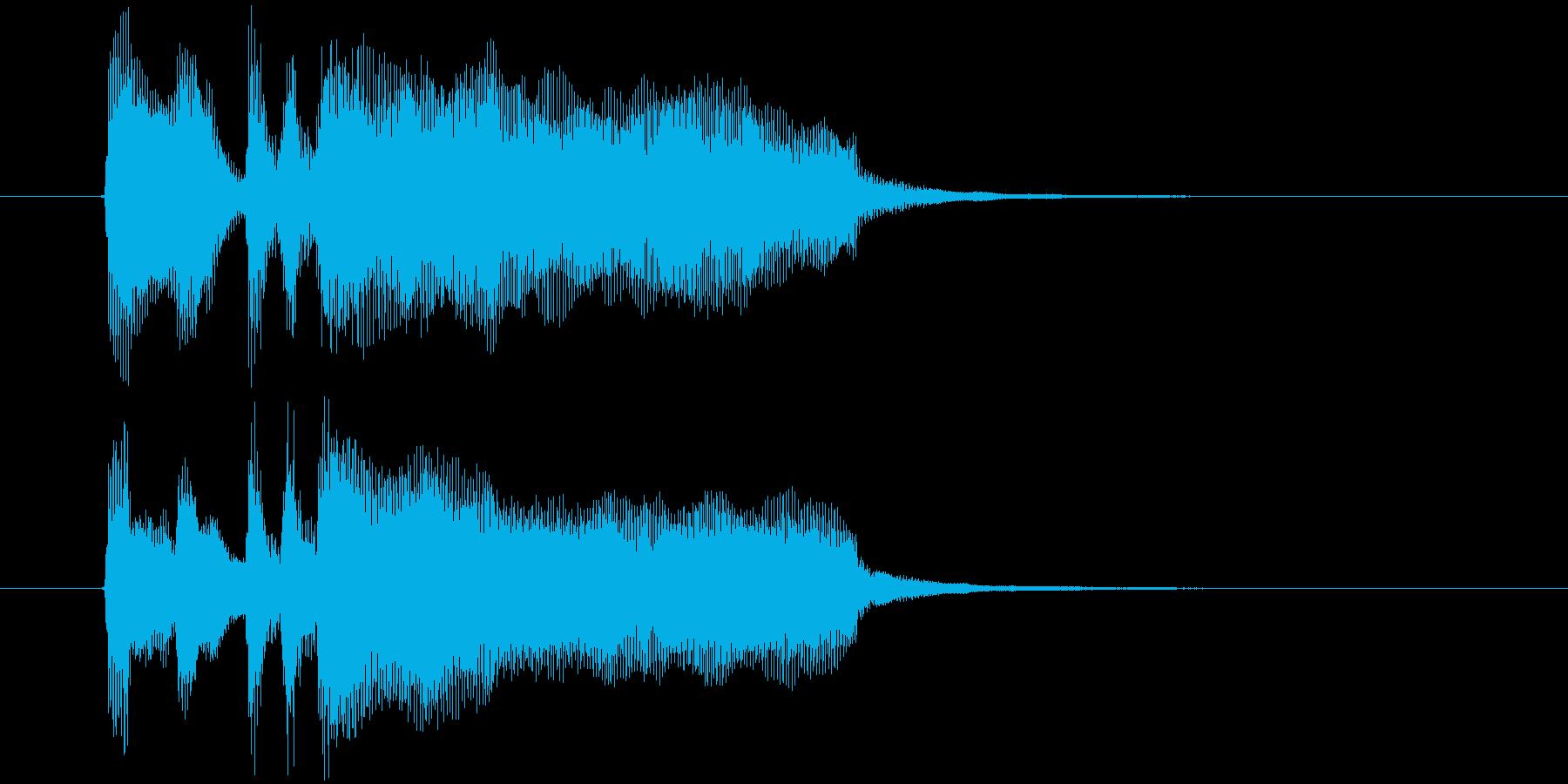 8秒のAOR的なさわやかピアノの再生済みの波形