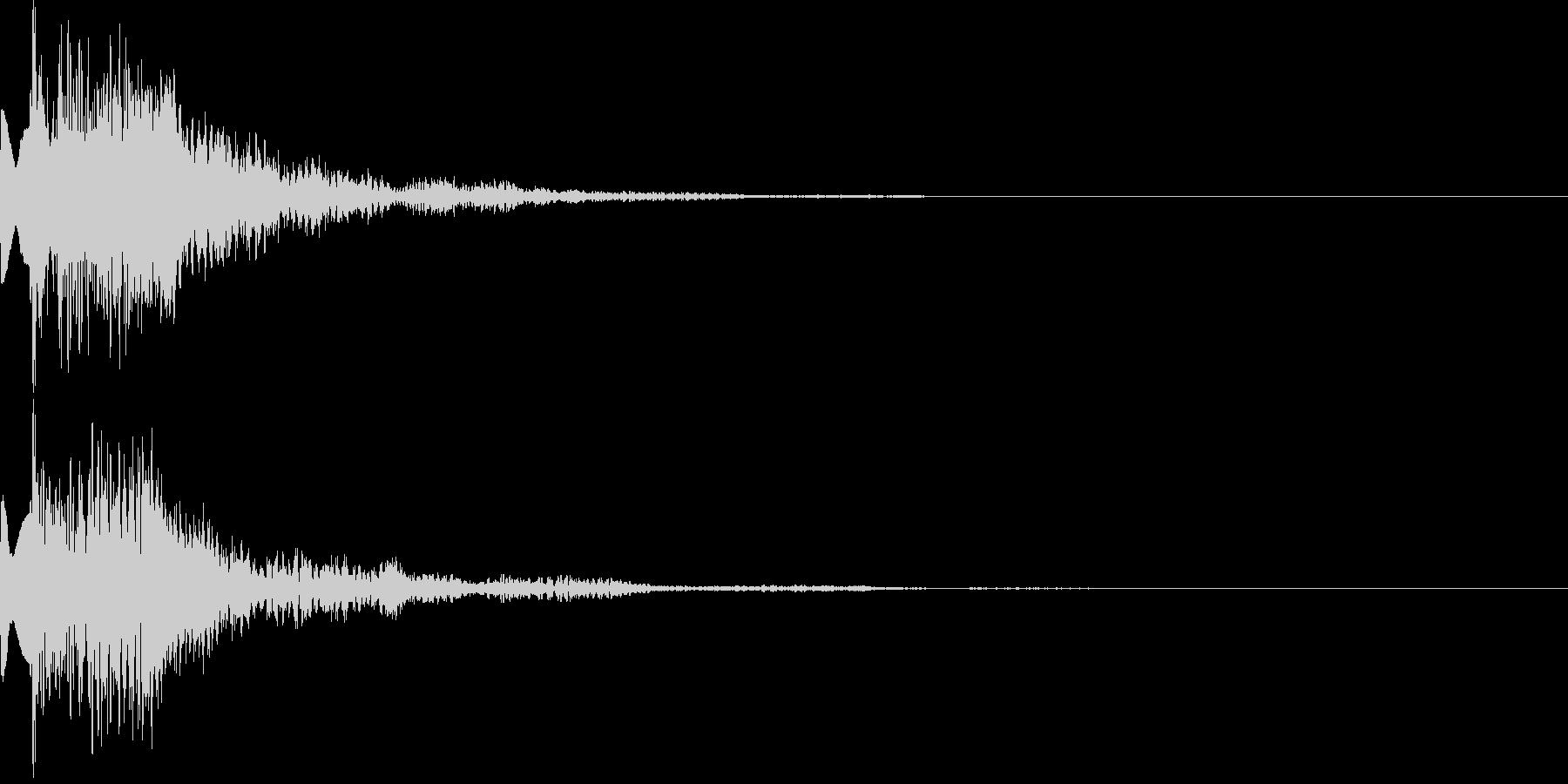 アイテム獲得音02の未再生の波形