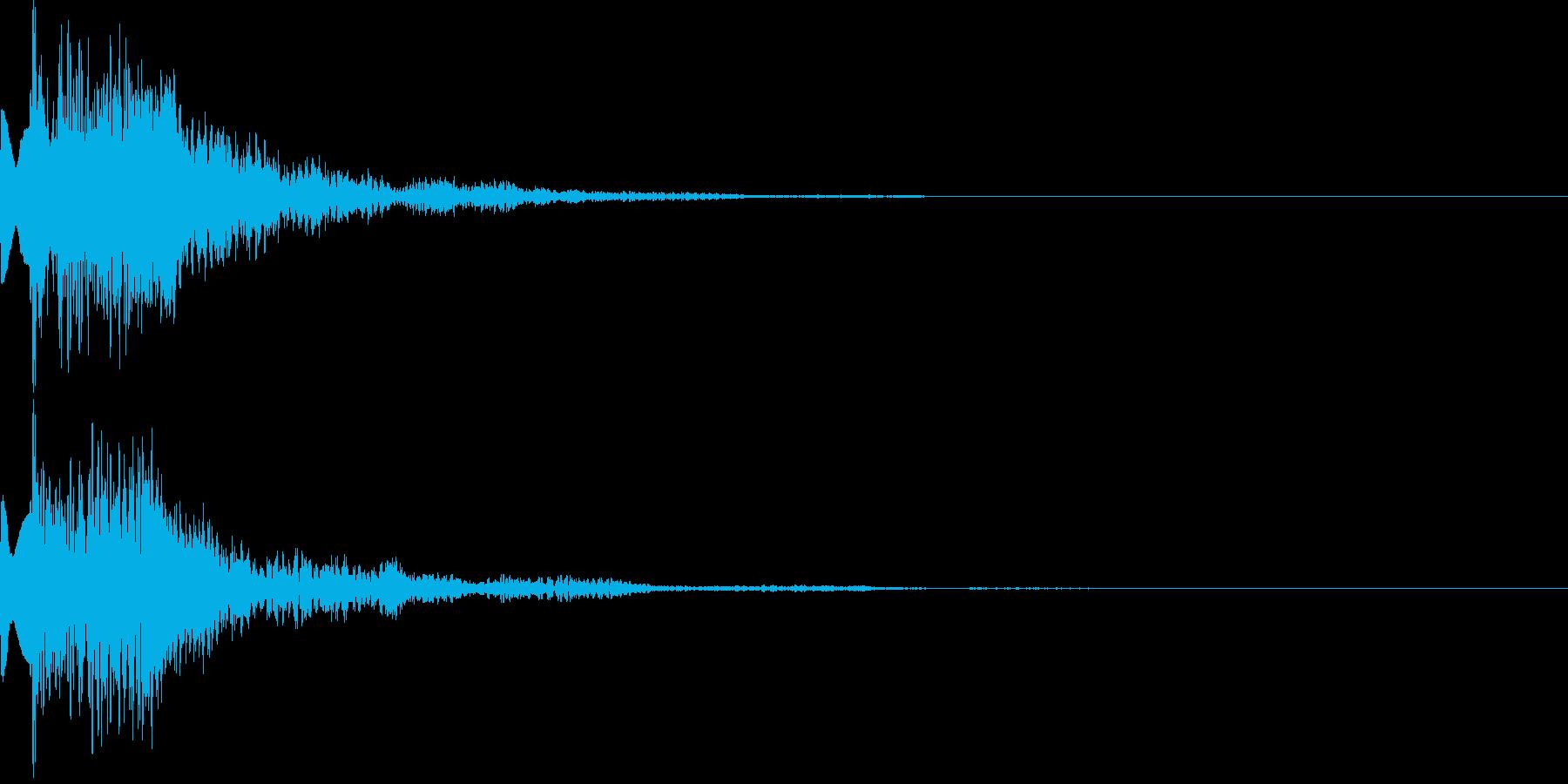 アイテム獲得音02の再生済みの波形