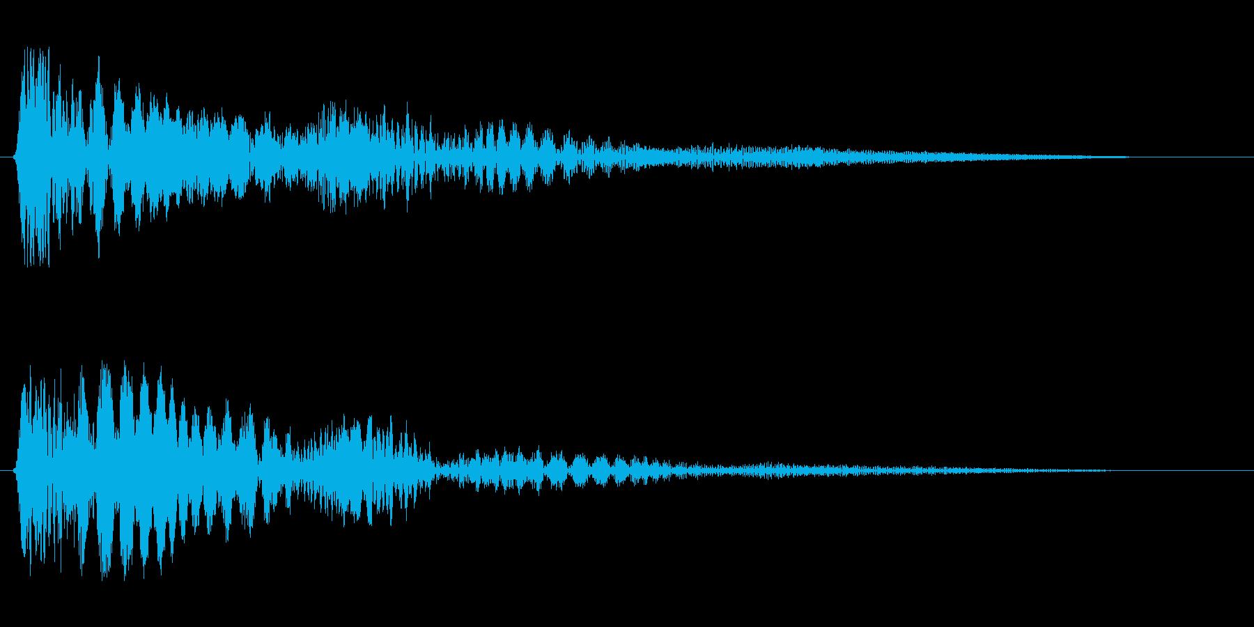 ピヨヨヨョ〜ン(震えているような効果音)の再生済みの波形