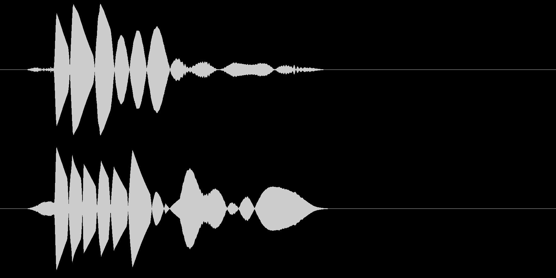 ドン(低い打撃音、物を落とした音)の未再生の波形