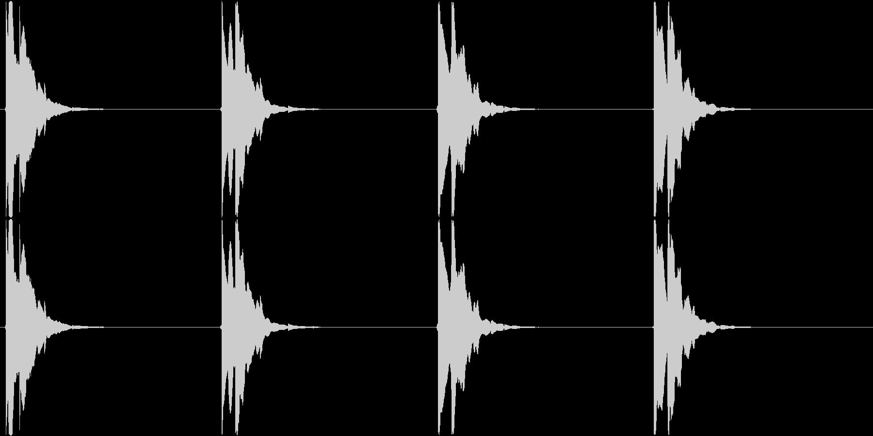 ピコン・・・ピコン(矢印、目的地、点滅)の未再生の波形